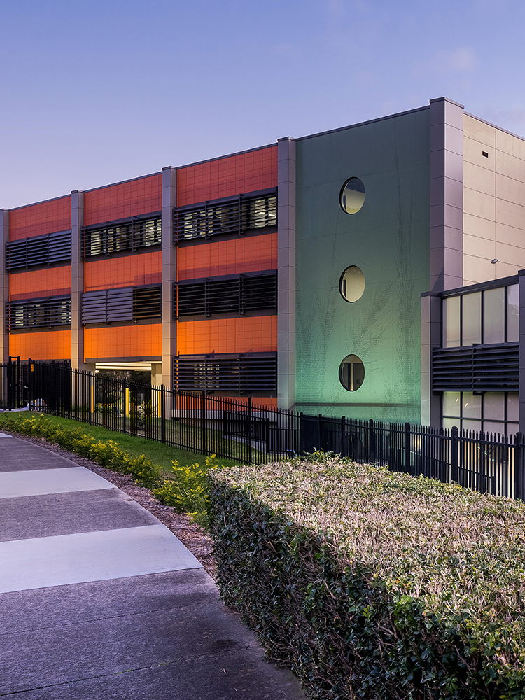 Carparks pathways and facade